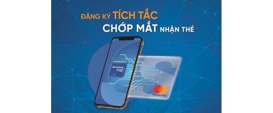 Mở thẻ tín dụng Sacombank trên ứng dụng di động